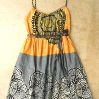Tropical Ink Print Batik Dress [2454] - &amp;#36;32.00 : Vintage Inspired Clothing &amp; Affordable Summer Dresses, deloom | Modern. Vintage. Crafted.