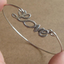 Love Bangle Bracelet Simple Everyday Jewelry by silverglory