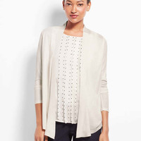 Grosgrain Trim Open Cardigan