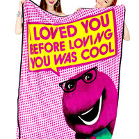 BARNEY LOVES YOU BLANKET