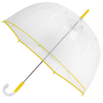 Un-teal the Clouds Clear Umbrella in Canary | ModCloth.com