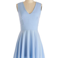 ModCloth Short Sleeveless A-line Sunny Skies Ahead Dress