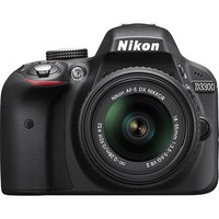 Nikon - D3300 DSLR Camera with 18-55mm VR Lens - Black