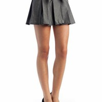 pleated bow mini skirt &amp;#36;18.40 in GREY - Skirts | GoJane.com