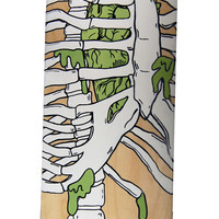 Hand Painted Rib Cage Skateboard Deck by punkrockparti on Etsy