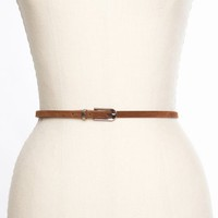 Suede Skinny Belt - Camel in  Accessories at Nasty Gal