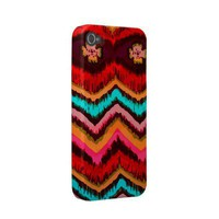 Aztec Zig Zag Tribal Inspired Fashion Pattern Case-mate Iphone 4 Case from Zazzle.com