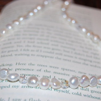 Genuine Freshwater Pearl Necklace with by authenticaboutique