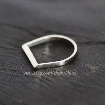 Size 7, Sterling Silver, Handmade Jewelry, Razor Ring, Statement Ring, Silver Jewelry, Ready To Ship!