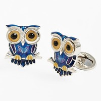 Jan Leslie 'Winking Owl' Cuff Links