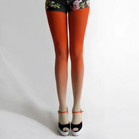 BZR Ombr tights in Sunset by BZRshop on Etsy