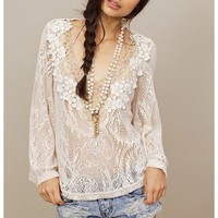 Leyendecker Carrera Lace Blouse