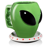 ThinkGeek :: The Alien Mug and Saucer