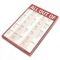 All Out Of Classic Notepad with Magnet | X-treme Geek