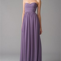 A-line Strapless Sweetheart Polyester Chiffon Bridesmaid Dress BD0401
