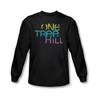 One Tree Hill - Mens Color Blend Logo Long Sleeve Shirt In Black