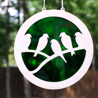 Flock of Birds Suncatcher and Hanging Wall Art