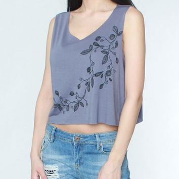 Blue Steel Motif Tank Top