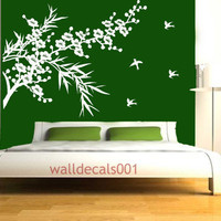 Wall decals Wall stickers Art cherry blossom and by walldecals001