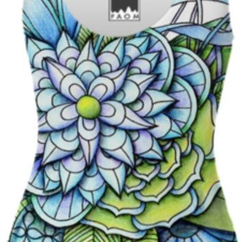 Peaceful Flower Garden Swimsuit created by Zandiepants | Print All Over Me
