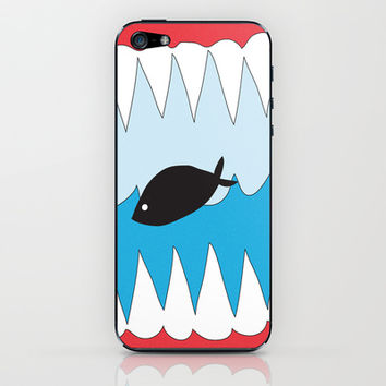 Big fish eats small one  iPhone & iPod Skin by ProArte