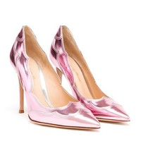 GIANVITO ROSSI | Metallic Pointed Pumps | Browns fashion & designer clothes & clothing