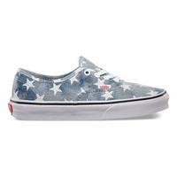 Vans Washed Stars Authentic Womens Shoes Stars/Blue  In Sizes