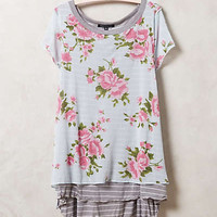 Petal Mixed Tee by Anthropologie Sky