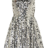 Sequin Skater Dress - Fit & Flare Dresses - Dresses  - Apparel - Topshop USA