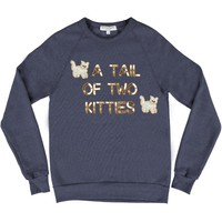 Bow & Drape, sweatshirts, comfy shirts, weekend wear, lounge, soft shirts, customized, cats, kitty, kitties, animals, cat lover, cheeky