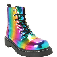 Anarchic By T.U.K. Rainbow Combat Boot