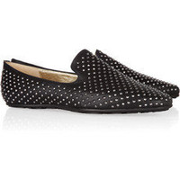 Jimmy Choo|Wheel studded leather loafers|NET-A-PORTER.COM