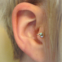 Etsy Transaction -        Starlight RIGHT Crystal Tragus Cuff White Austrian Swarovski Crystal Silver Ear Cuff rainbow iridescent wire earring alternative
