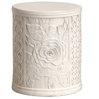 Rose Ceramic Garden Stool/Table - HomeInfatuation.com