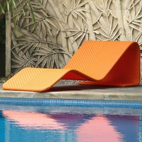Modern Outdoor Wicker Chaise Lounge at HomeInfatuation.com.