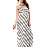 A Pea in the Pod: Strapless Empire Seam Maternity Maxi Dress