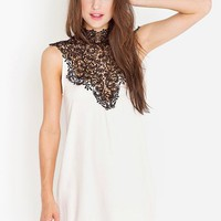 Tied Crochet Dress in Ivory