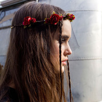 Red Mulberry Rose Crown