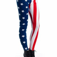 american flag leggings &amp;#36;13.30 in REDBLUE - American Dream | GoJane.com