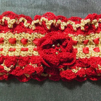 Red and Gold Keepsake Garter