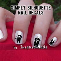 Ninja Decals Black and Clear Simply Silhouette by by InspiredNails