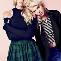 Free People Womens Holly Go Lightly Plaid Skirt -