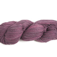 Hand Dyed Sock Yarn Purple Superwash Bamboo by flickertailfibers