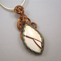Wire Wrapped Pendant Brecciated Mookaite Jasper by UptightWanda
