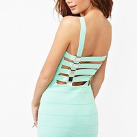Buckle Up Bandage Dress in  Clothes Back In Stock at Nasty Gal