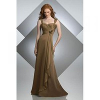 Attractive Spaghetti Straps Floor-length Satin Bridesmaid/ Evening Party Dress [TWL120201042] - $93.99 : wedding fashion, wedding dress, bridal dresses, wedding shoes