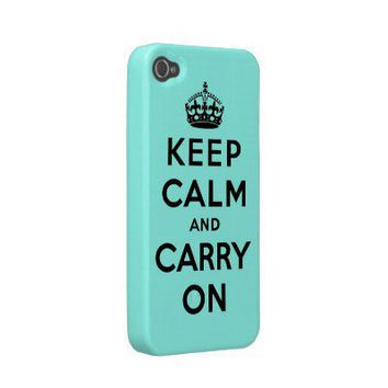 keep calm and carry on Original Iphone 4 Case-mate Cases from Zazzle.com