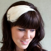 IVORY ISADORA BRIDAL FEATHER HEADBAND by bethanylorelle on Etsy