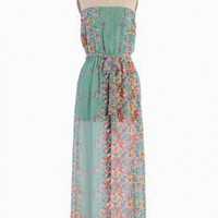 Watercolor Garden Floral Maxi Dress | Modern Vintage New Arrivals