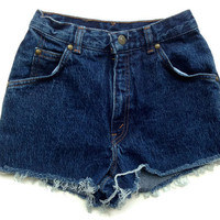 High Waisted Levi Denim Shorts No Rips Tumblr Hipster